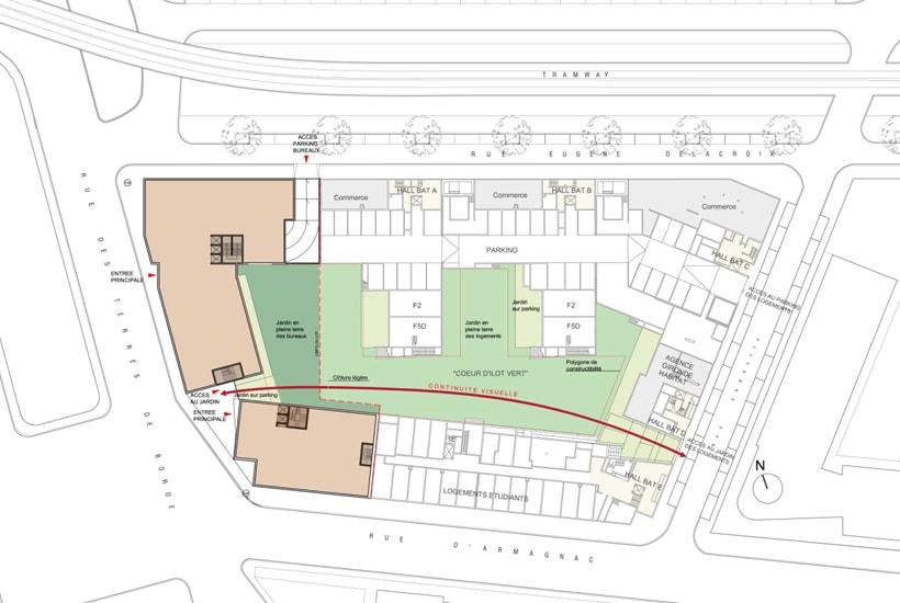 Coordination architecturale et urbaine - Ilot d'Armagnac à BORDEAUX